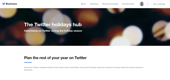 Twitter Holiday Hub
