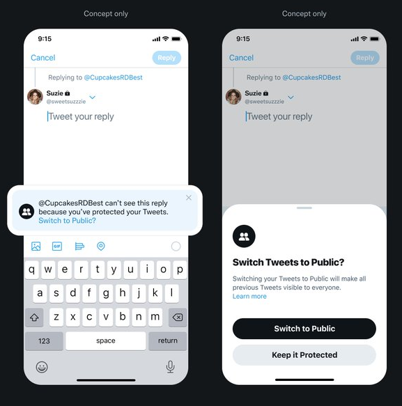 , Twitter Is Testing Privacy Alerts and Check-in Settings