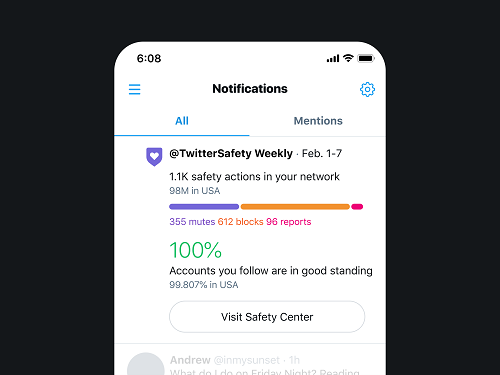 Twitter safety update