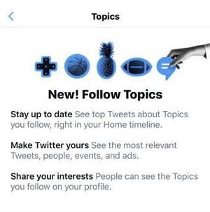 Twitter Topics notification