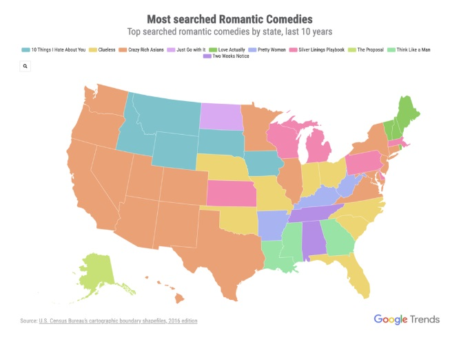 Google Valentine's Day map