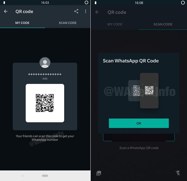 WhatsApp QR codes