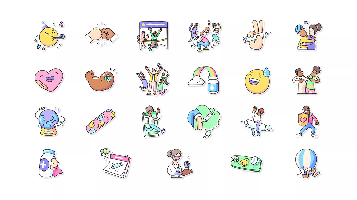 WhatsApp vaccine stickers
