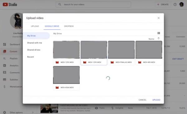 YouTube Studio update