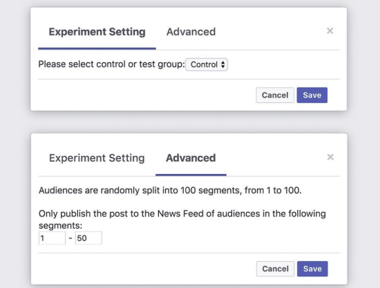 Facebook Experiments with A/B Testing for Page Posts