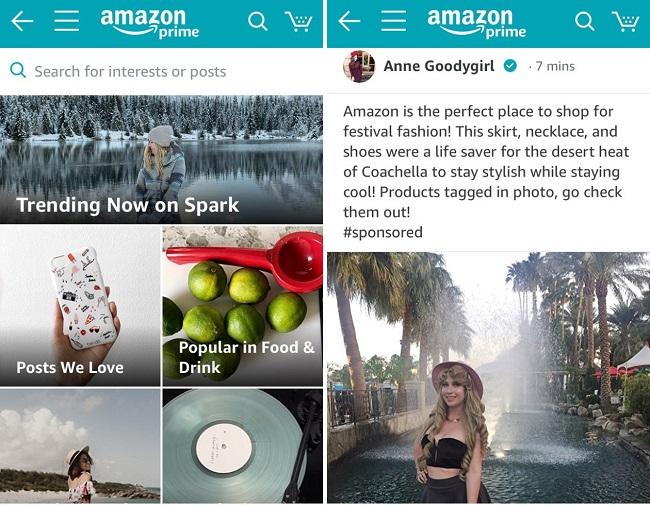 Amazon Spark screenshots