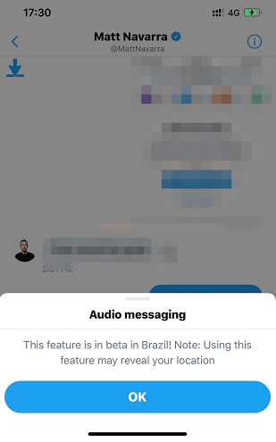 Twitter audio DMs