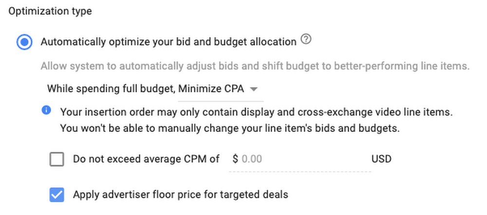 Google automated bidding