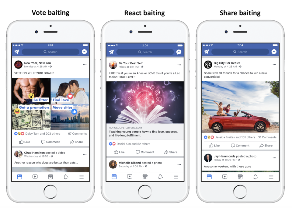 Facebook Announces News Feed Update to Crack Down on 'Engagement Baiting' Posts | Social Media Today