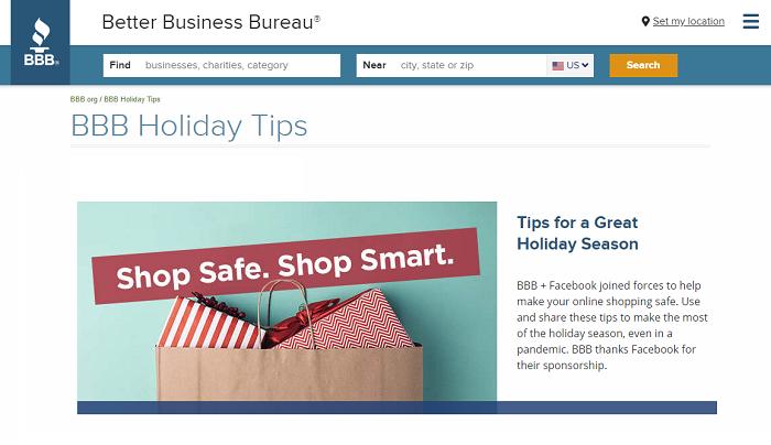 Better Business Bureau site