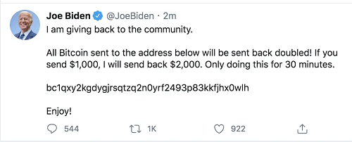 Joe Biden Twitter hack