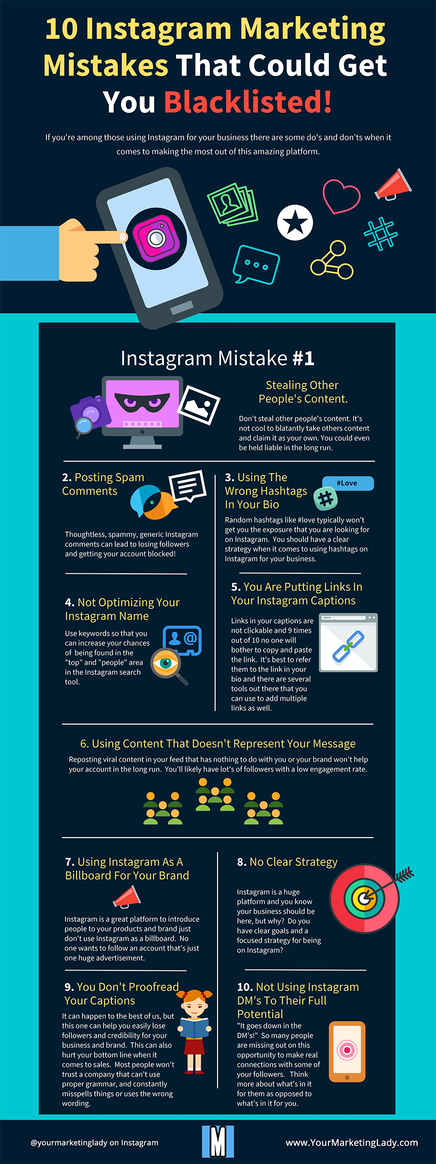Infographic lists key Instagram marketing mistakes to avoid