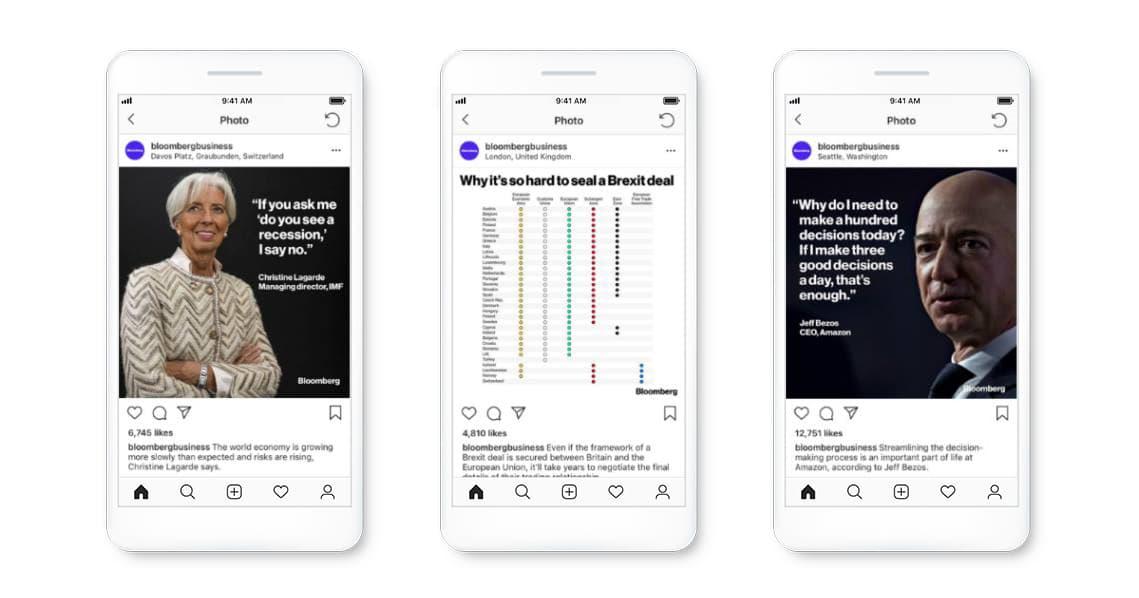 Bloomberg Instagram examples