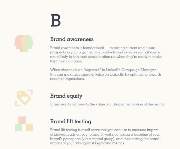 LinkedIn Marketing Glossary