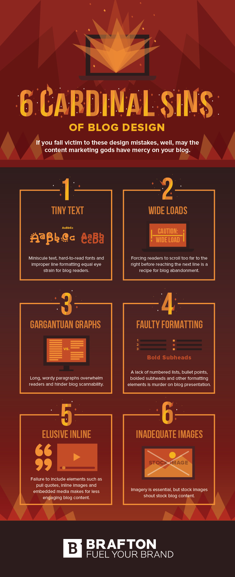 infographic outlines some key, common blogging mistakes
