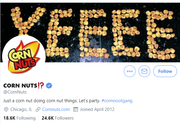 Corn Nuts Twitter account