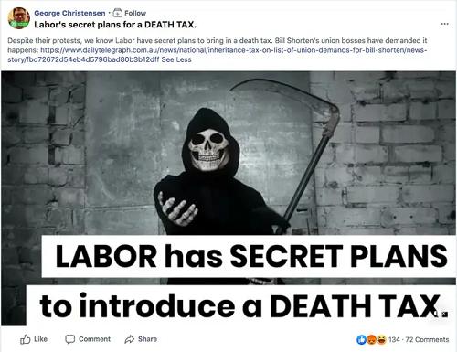 Labor Death Tax post