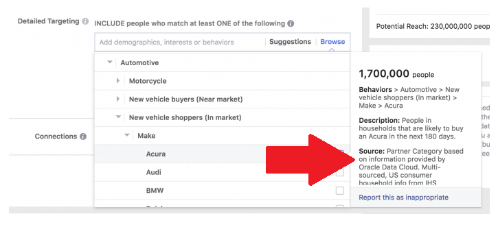 Facebook Removes Third-Party Ad Data Options from Ad Targeting