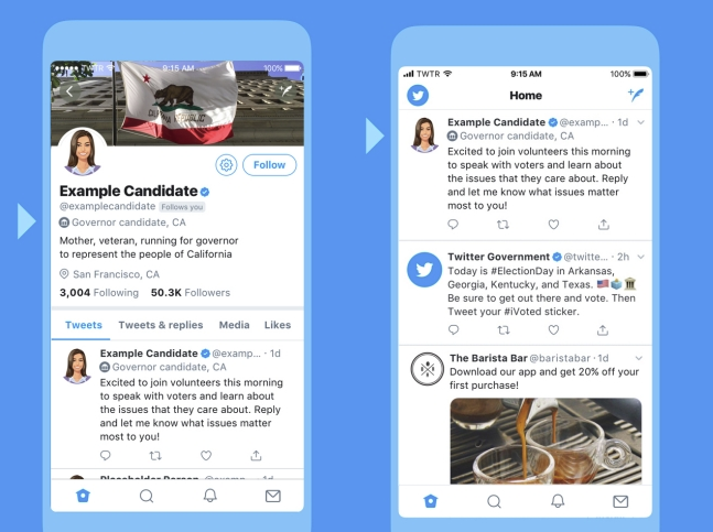 Twitter Adds New Badges which will Appear on the Profiles and Tweets of Political Candidates | Social Media Today