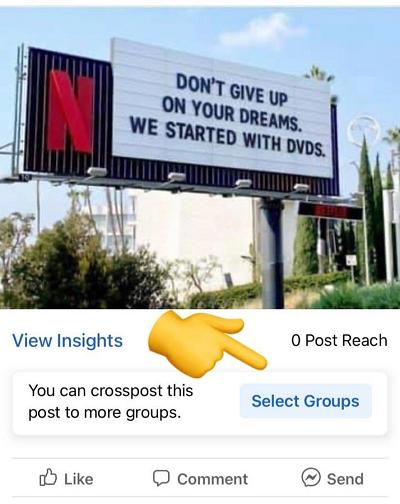 Facebook group sharing