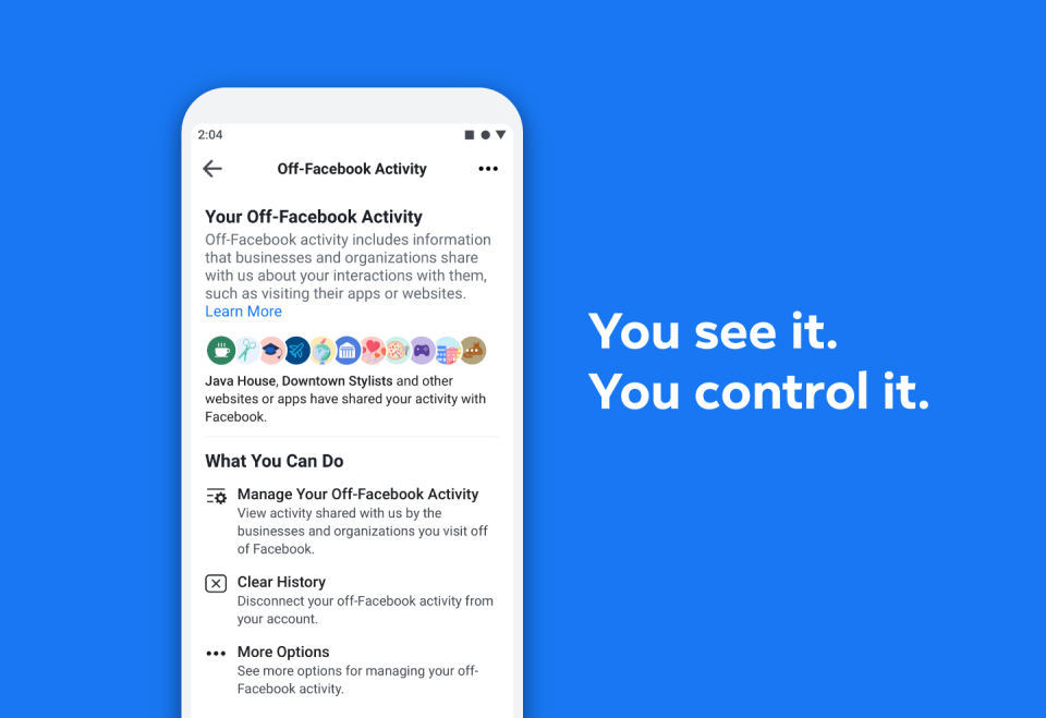 Facebook's 'Clear History' tool