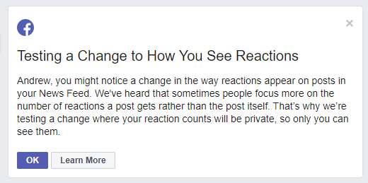 Facebook Like counts notice