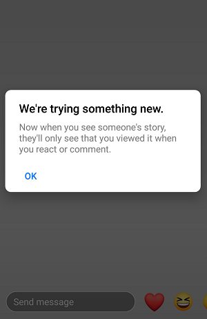 Facebook Stories view count
