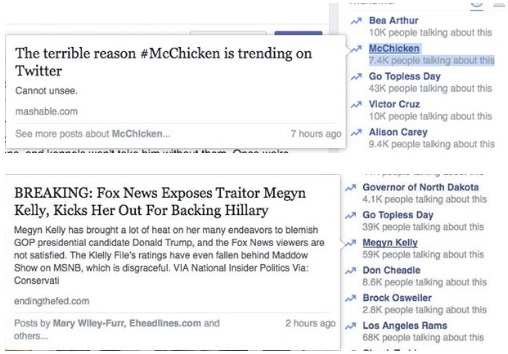 Facebook Trending News fail