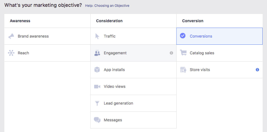 Facebook Website Conversions Campaign