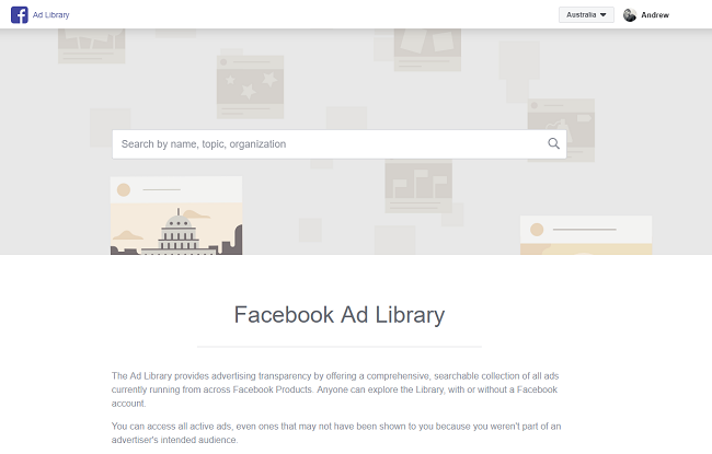 Facebook Ad Library