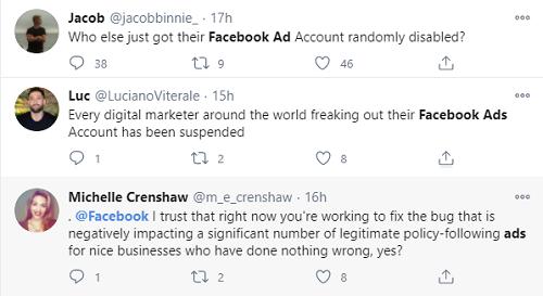 Facebook广告已禁用