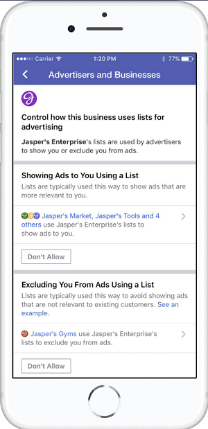Facebook ad transparency tools