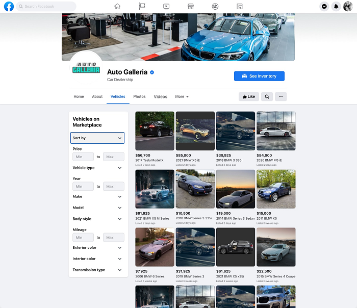 Facebook car promotion tools