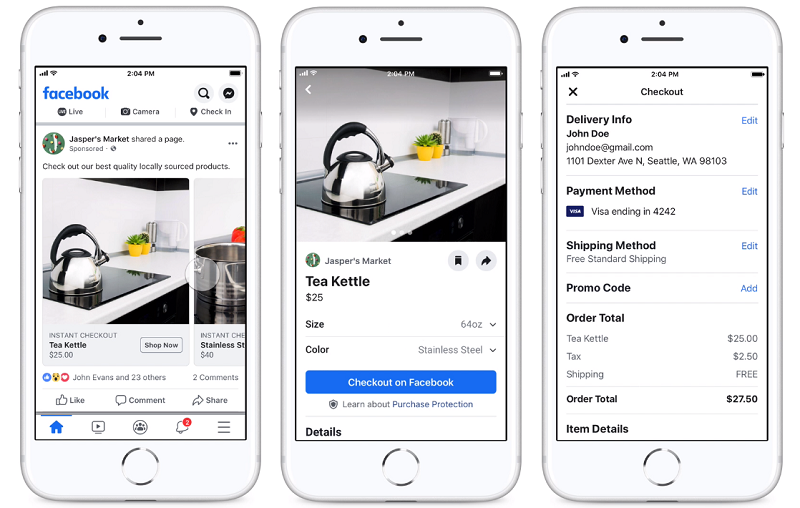 Facebook Tests New In-App Shopping Ads for Both Facebook and Instagram | Social Media Today