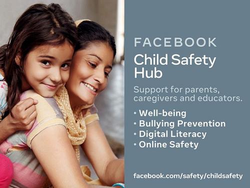 Facebook child safety hub