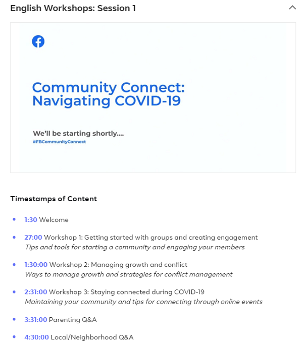 Facebook Community Connect