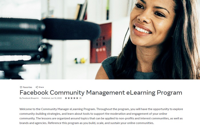 Facebook Community Management stream