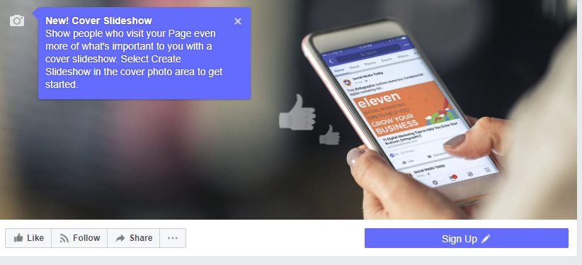 Facebook's Adding New Cover Slideshows for Pages | Social Media Today