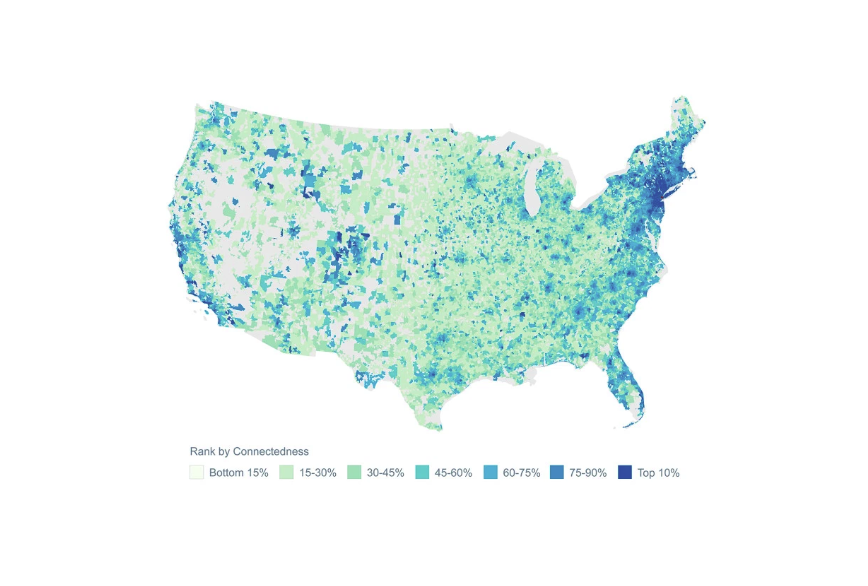 Facebook connectivity map