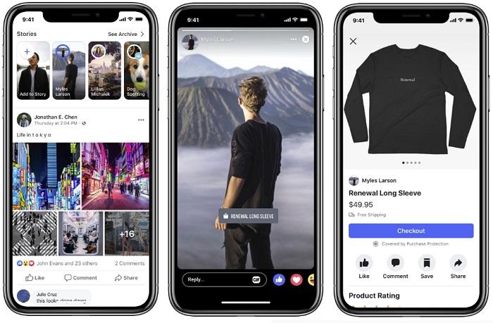 Facebook Stories swipe up