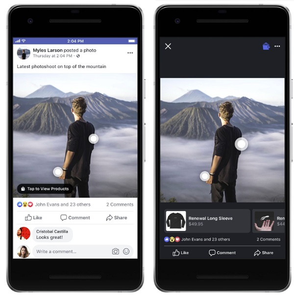 Facebook product tags in post