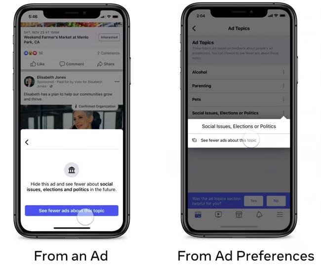 Facebook political ad controls