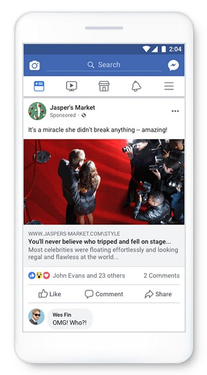 An example of an engagement bait Facebook post