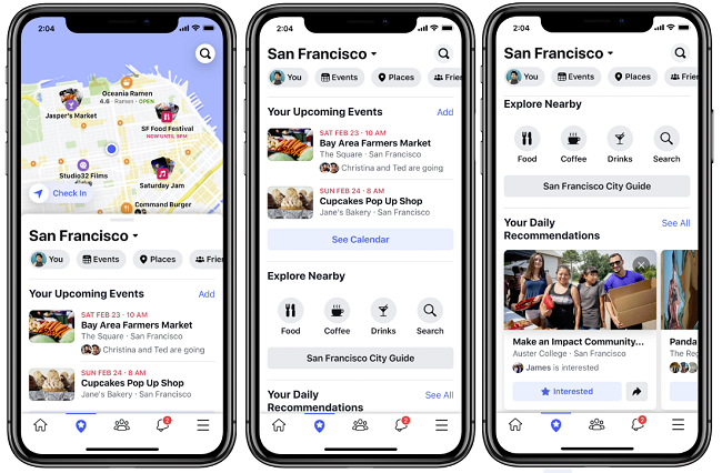 Facebook Events tab update