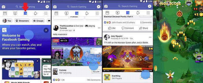 Facebook gaming screenshots