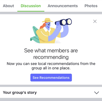Facebook Groups recommendations