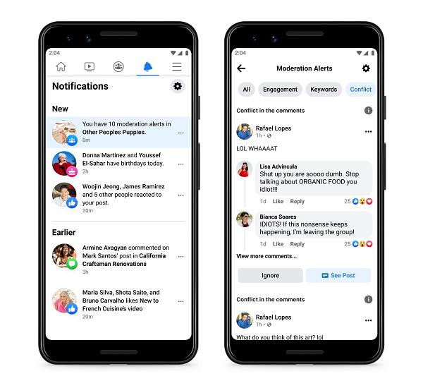 Оновлення груп Facebook