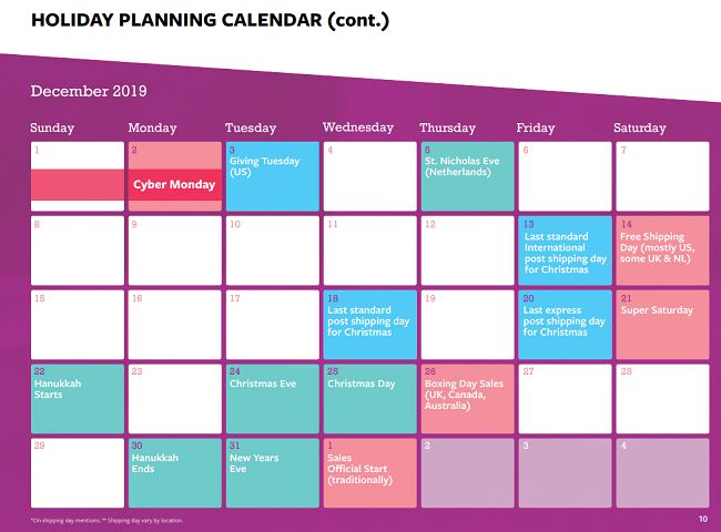 Facebook holiday planning guide example