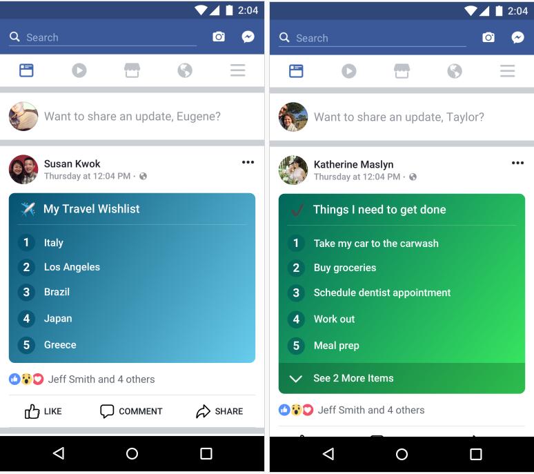 Facebook's Adding a New ' Enumera la opción para ayudar a impulsar el compromiso | Social Media Today