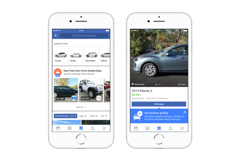 Facebook's Expanding Marketplace with a New Dedicated Section for Vehicles | Social Media Today
